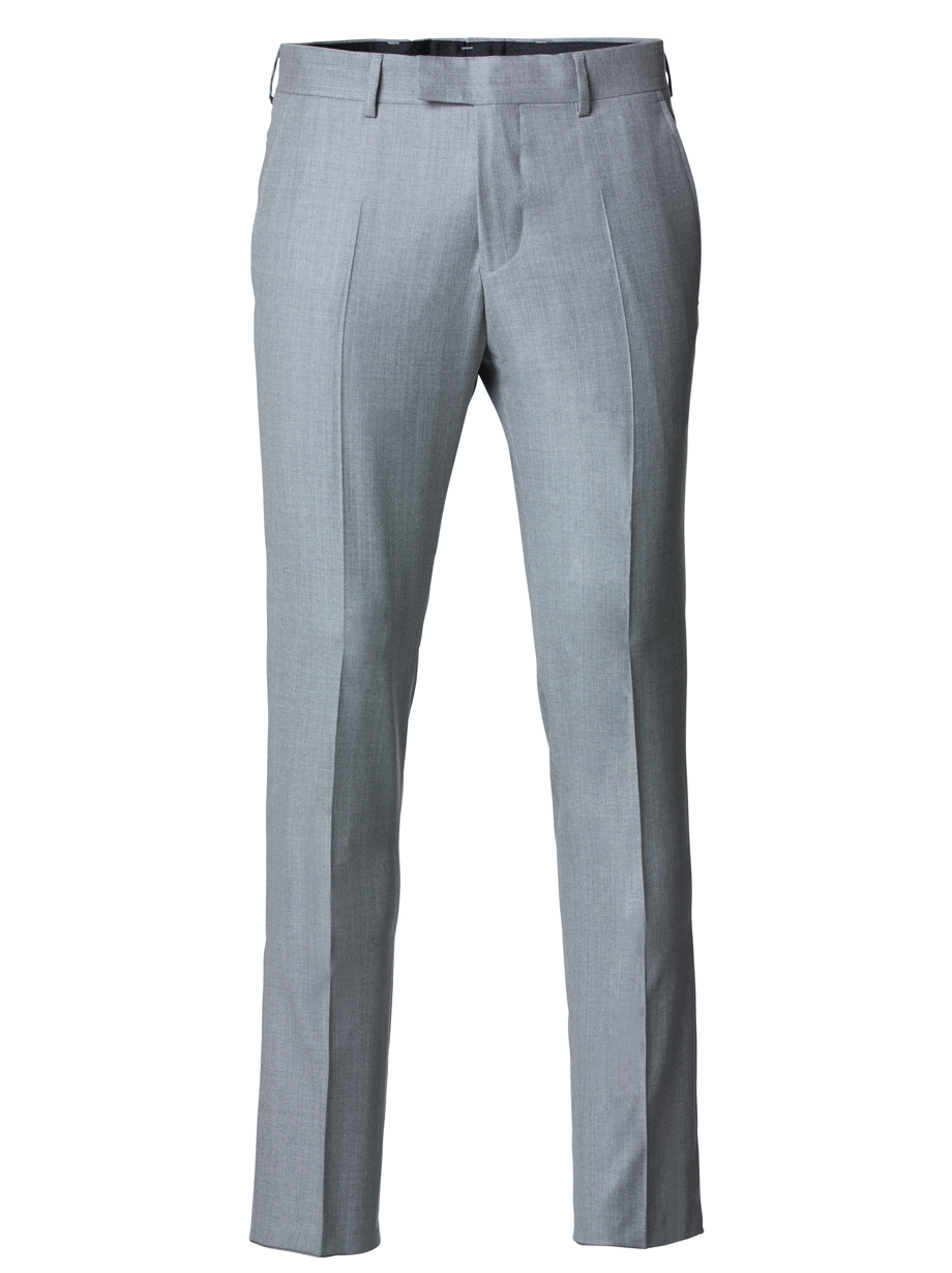 Cavaliere Classic Fit Patrick Byxor Gray